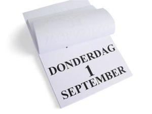 Dagkalender grootletter