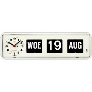 Kalenderklok wit staand