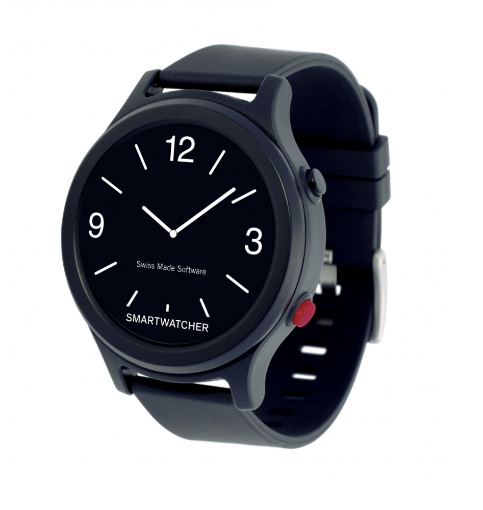 Smartwatcher noodoproep horloge – Essence zwart